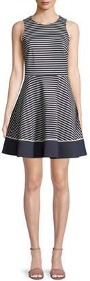 Kate Spade Sleeveless Stripe Ponte Mini Dress