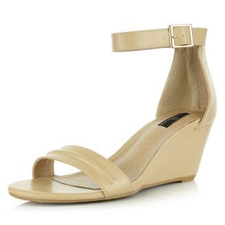 e729b7e84d25e DailyShoes Women s Summer Fashion Design Ankle Strap Buckle Low Wedge  Platform Heel Sandals Shoes