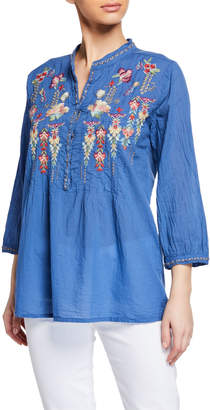 Johnny Was Brenda Embroidered Tunic