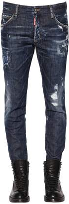 DSQUARED2 16cm Ski Destroyed Stretch Denim Jeans