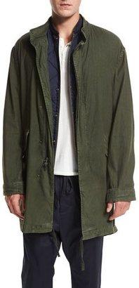 Vince Canvas Utility Parka Jacket, Olive $545 thestylecure.com