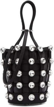 Alexander Wang Black Mini Roxy Cage Glass Bucket Bag