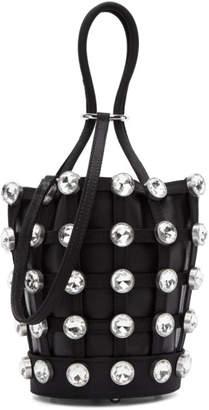Alexander Wang Black Mini Roxy Cage Glass Bucket Bag