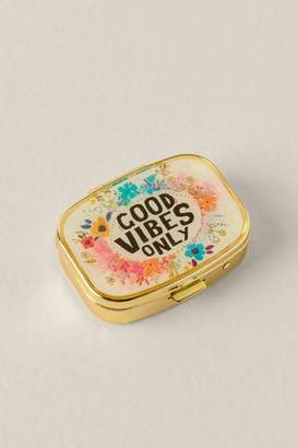 Good Vibes Only Pill Box - Blue