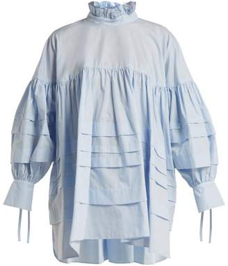 Cecilie Bahnsen - Alberte Cotton Blouse - Womens - Blue
