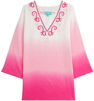 TAJ Ombre Silk Tunic with Beading