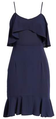 Leith Double Ruffle Flounce Dress