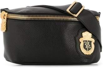 Billionaire logo plaque belt bag