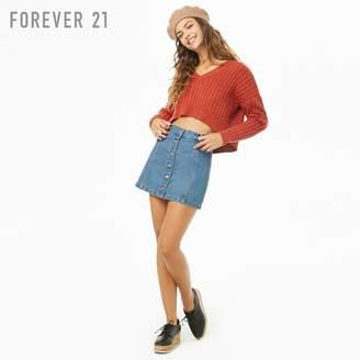 Forever 21 (フォーエバー 21) - Forever 21 Vネッククロップボクシーセーター