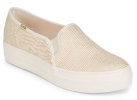 Textured Low-Top Sneakers $57 thestylecure.com