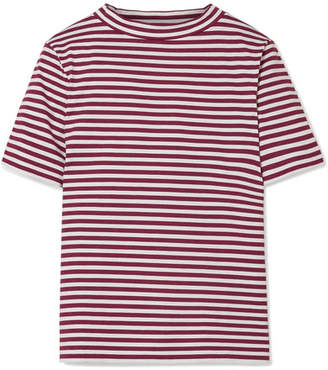 MiH Jeans Woman Nora Striped Cotton-jersey T-shirt Navy Size M Big Sale Online Pick A Best Sale Online Professional Sale Online iWvfVIp8