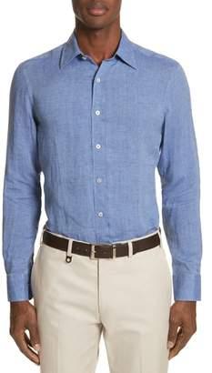 Canali Slim Fit Linen Sport Shirt