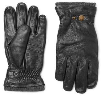 Hestra Utsjö Fleece-Lined Full-Grain Leather Gloves