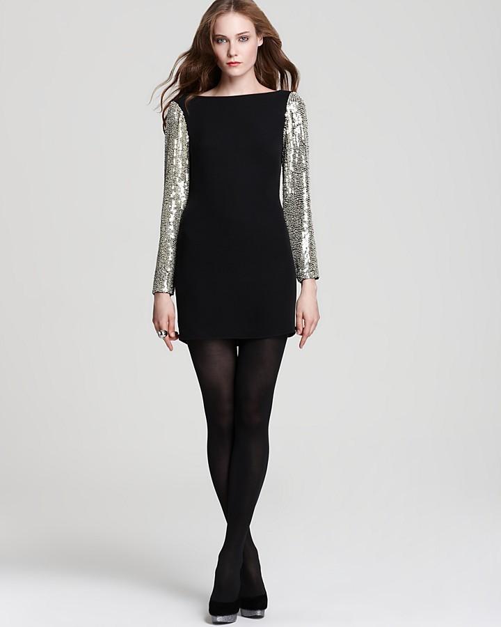 Parker Combo Dress - Sequin Sleeve