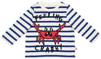 Stella McCartney Crabby Striped Cotton Interlock T-Shirt