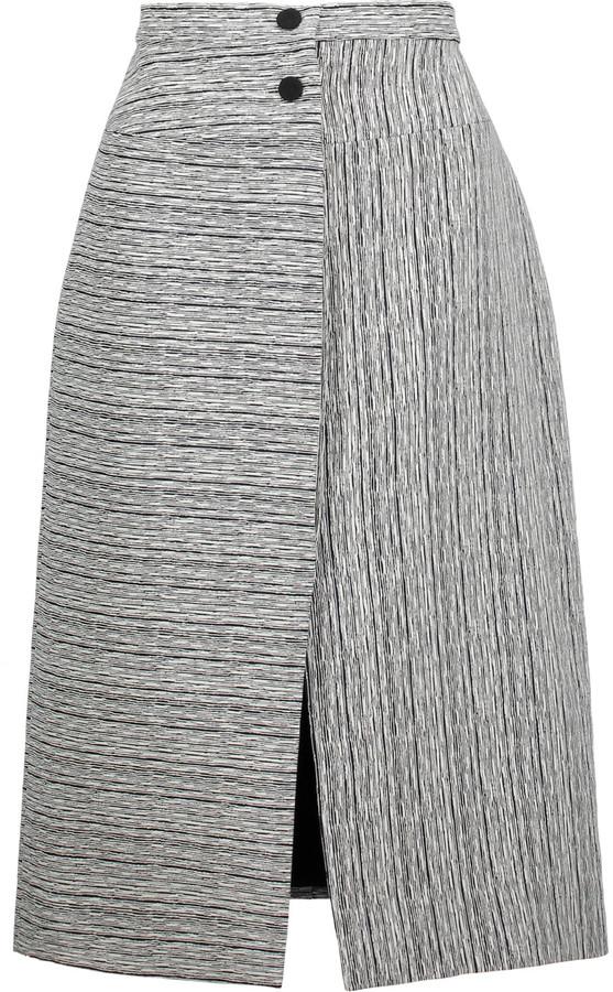 CarvenCarven Fantaisie textured-jacquard midi skirt