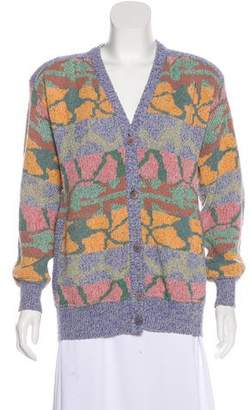 Missoni Vintage Wool-Blend Structured Cardigan