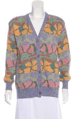 Missoni Vintage Wool-Blend Structured Cardigan
