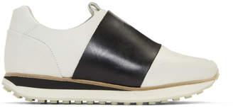 Rag & Bone White and Black Dylan Elastic Runner Sneakers