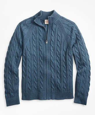Men Navy Blue Cable Knit Sweater Shopstyle