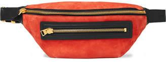 Tom Ford Leather-Trimmed Suede Belt Bag