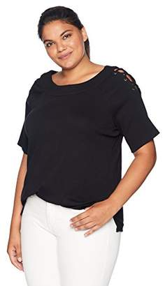 Rafaella Women's Plus Size Cotton Novelty Knit