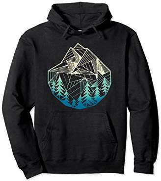 Minimal Mountains Geometry Outdoor Hiking Hoodies