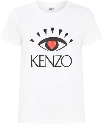 Kenzo Cotton Eye Heart T-Shirt