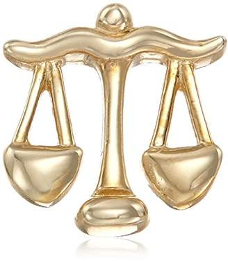 "14k Gold ""Libra"" Zodiac Horoscope Sign Scales Charm"