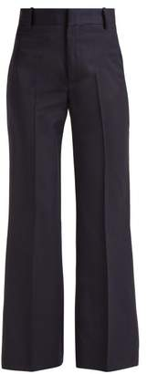 Etoile Isabel Marant Nedford Houndstooth Wool Trousers - Womens - Navy