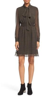 Diane von Furstenberg 'Arabella' Pinstripe Silk Dress $398 thestylecure.com