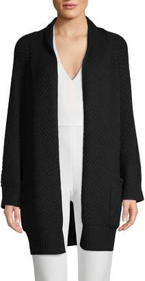 Vince Textured Open-Front Cardigan
