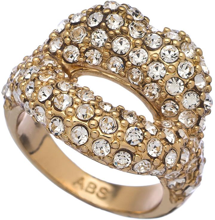 ABS by Allen Schwartz Crystal Lips Statement Ring