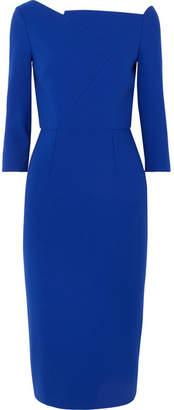 Roland Mouret Witham Asymmetric Stretch-crepe Dress - Blue