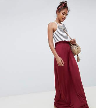 Asos Tall DESIGN Tall maxi skirt with paperbag waist