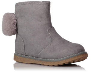 George Grey Faux Fur Lined Boots