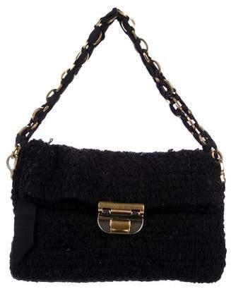Pre Owned At Therealreal Nina Ricci Ruffled Chain Link Strap Bag
