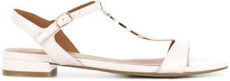 Emporio Armani front logo chunky heeled sandals