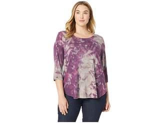 Karen Kane Plus Plus Size 3/4 Sleeve Top Women's Clothing