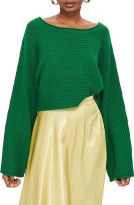 Topshop Roll Edge Crop Sweater