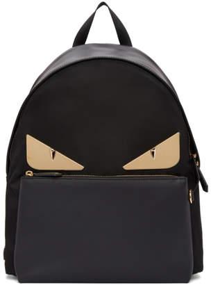 Fendi Black and Gold Bag Bugs Backpack