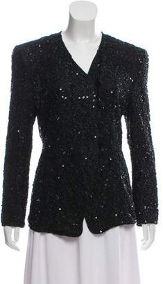 Giorgio Armani Long Sleeve Embellished Jacket