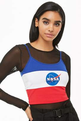 Forever 21 NASA Colorblock Cropped Cami