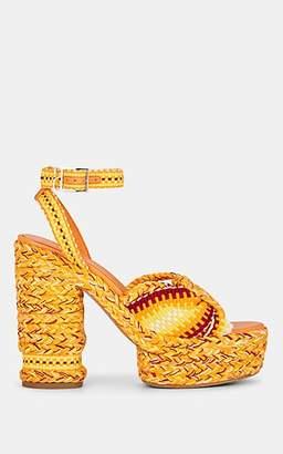ANTOLINA Women's Barbara Cotton Platform Sandals - Yellow