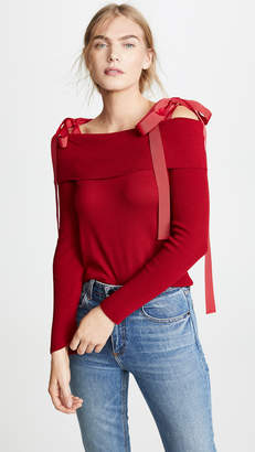 ADEAM Off Shoulder Sweater