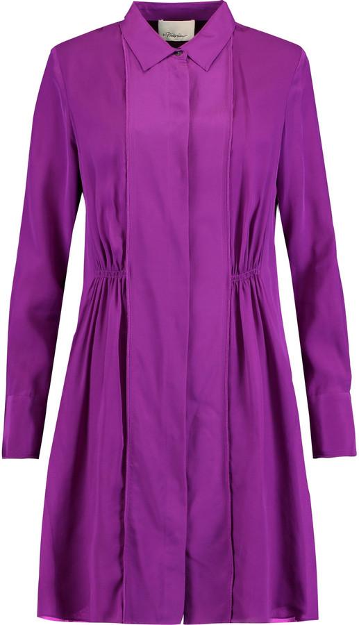 3.1 Phillip Lim3.1 Phillip Lim Gathered silk-crepe mini shirt dress