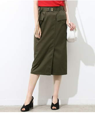 ViS (ビス) - ViS ベルト付きナロースカート ビス スカート
