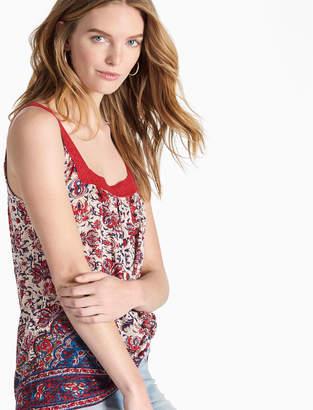 Lucky Brand Crochet Lace Tank