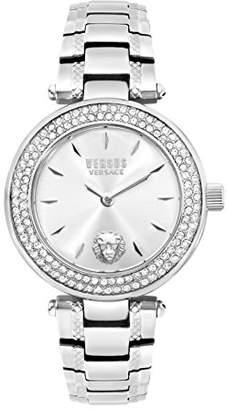 Versus By Versace Women's 'Brick Lane Crystal' Quartz Stainless Steel Casual Watch