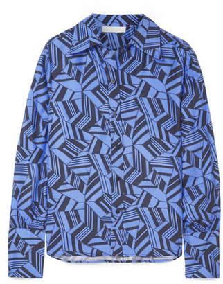 Chloé Printed Silk Crepe De Chine Shirt - Blue